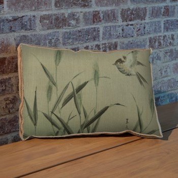 Bird and Grass pillow-Animals and Nature