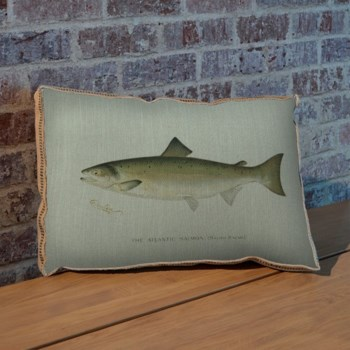 Atlantic Salmon pillow-Animals and Nature