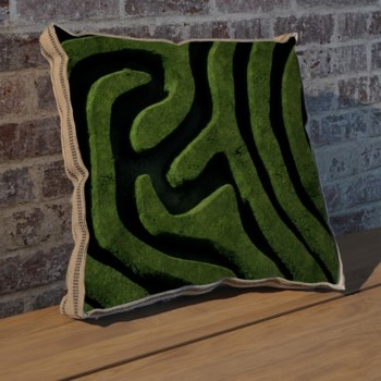 Left Maze II pillow-Photography
