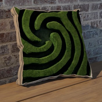 Right Maze II pillow-Photography