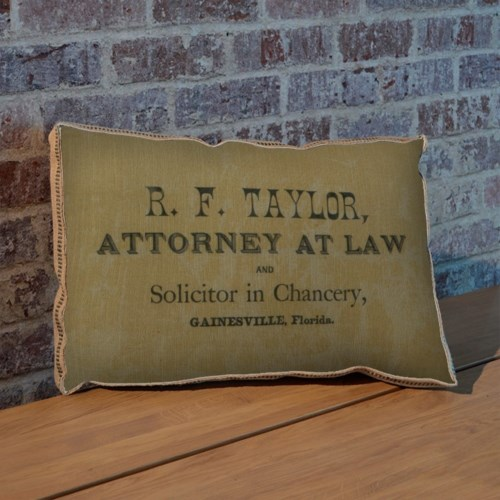 Attorney pillow- Holiday and Inspirational