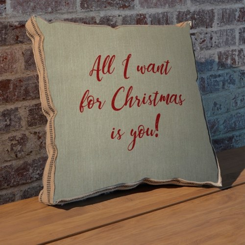 All I want for Christmas is you pillow-Holiday and Inspirational