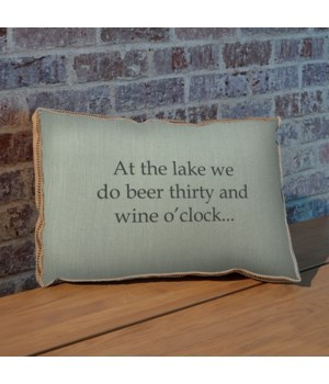 At the lake pillow-Holiday and Inspirational