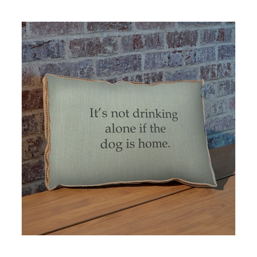 It's not drinking alone if the dog is home