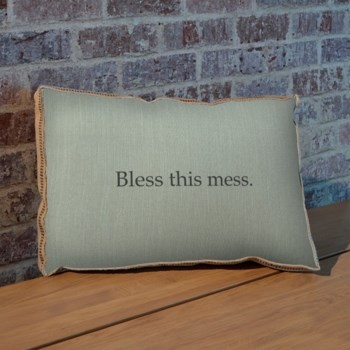 Bless this mess pillow-Holiday and Inspirational