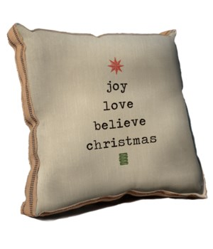 Joy Love Believe pillow-Inspiration and Holiday