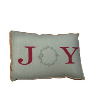 Joy Wreath pillow-Inspiration and Holiday