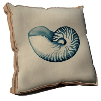 Blue Coastal Life II pillow-Coastal