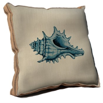 Blue Coastal Life III pillow -Coastal