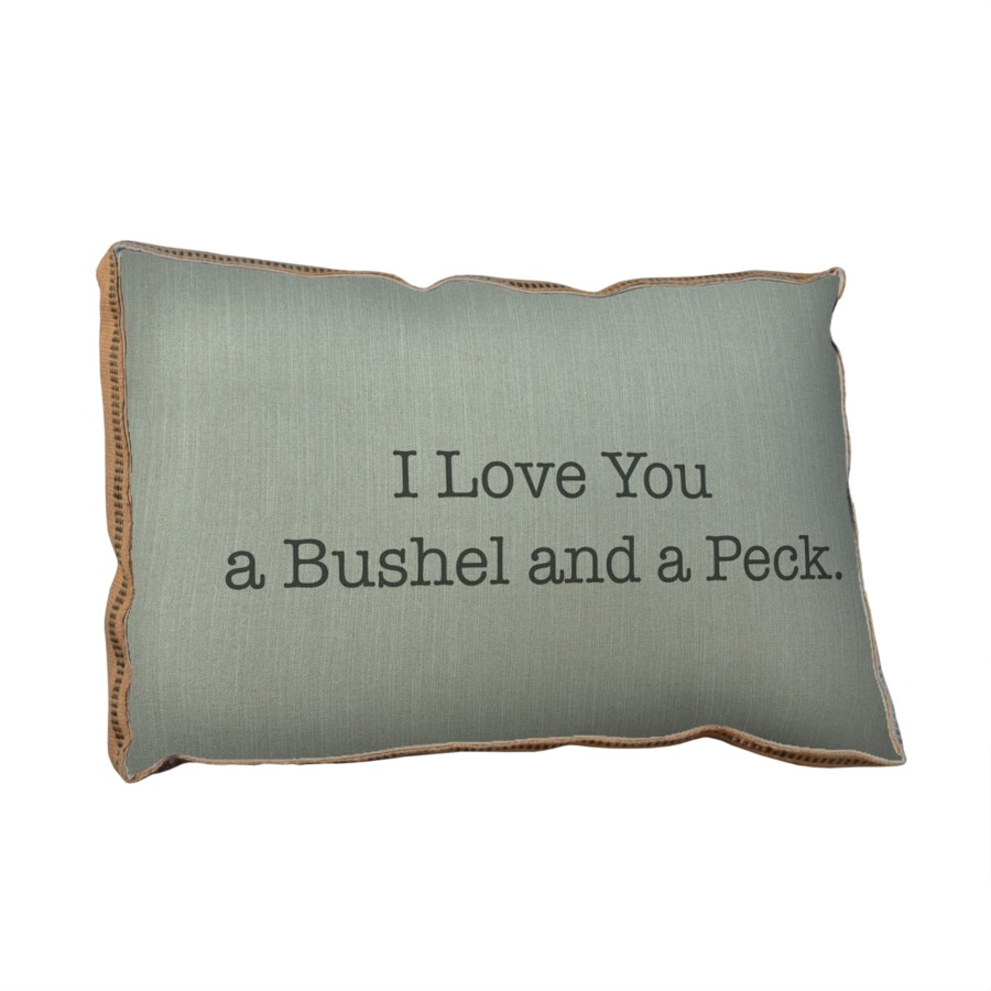 I love you a bushel and a peck pillow -Holiday Inspirational