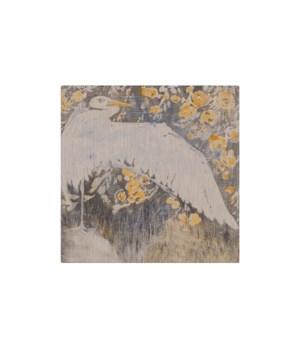 Heron and Flowers - Animal