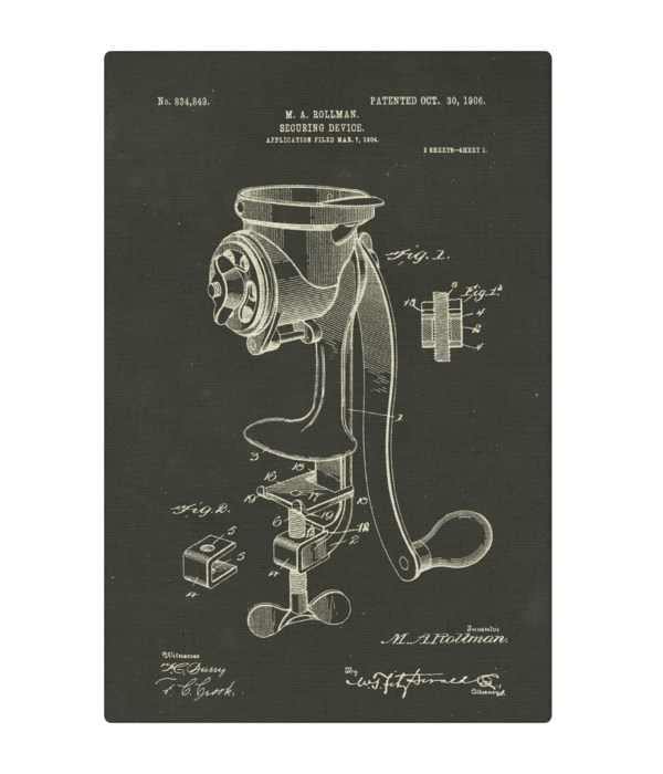 Coffee Mill Securing Device chalk finish