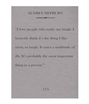 Hepburn I love people
