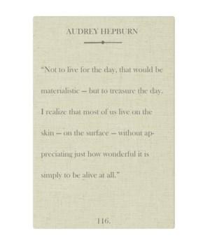 Hepburn Not to live