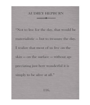 Hepburn Not to live