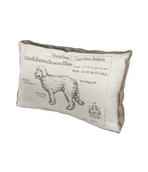 Golden Doodle Dog pillow - Animals and Nature