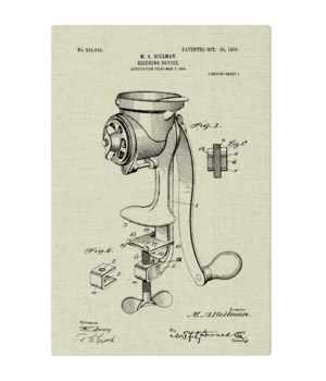 Coffee Mill Securing Device natural