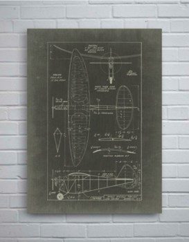 Aeronautic Blueprint I-Transportation and Travel