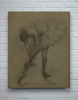 Antique Ballerina Study II-Fashion and Figurative