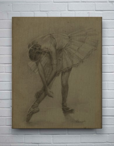 Antique Ballerina Study II-Fashion and Figurative