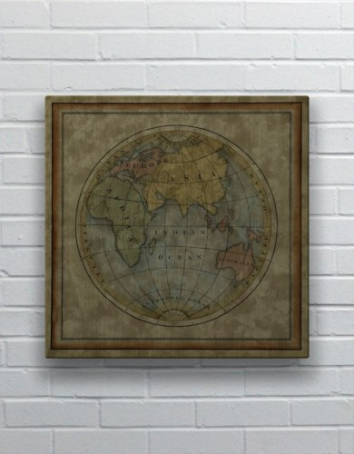 Small Eastern Hemisphere-Map and Historical