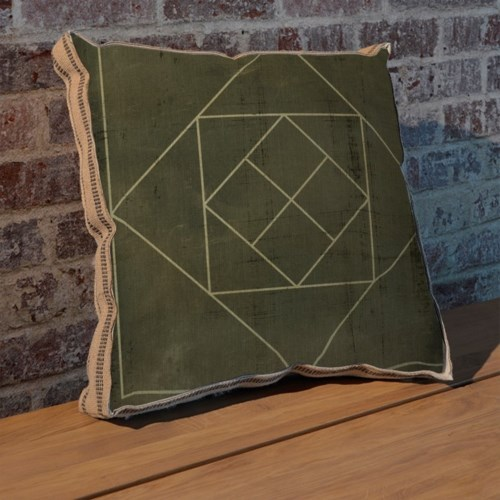 Geometric Blueprint V pillow-Abstract