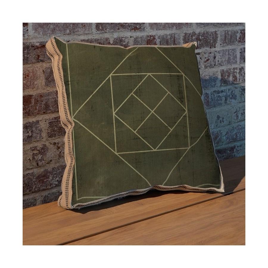 Geometric Blueprint V pillow