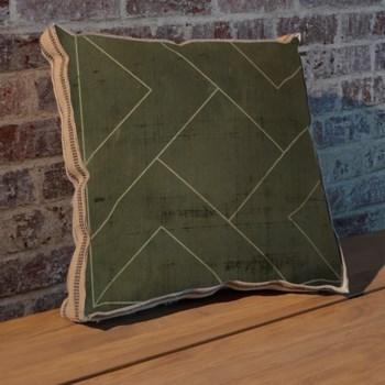 Geometric Blueprint VI pillow-Abstract