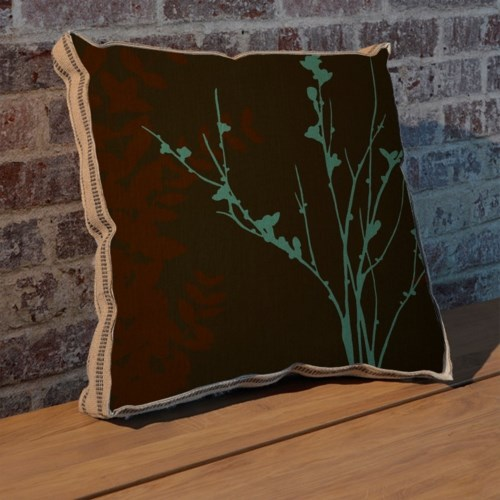 Blue Bough I pillow-Floral and Botanical
