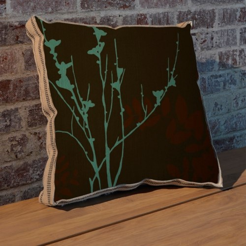 Blue Bough II pillow-Floral and Botanical