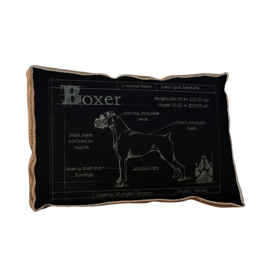 Blueprint Boxer black pillow -Animals and Nature