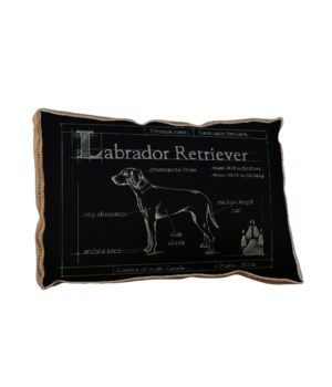 Blueprint Labrador black pillow-Animals and Nature