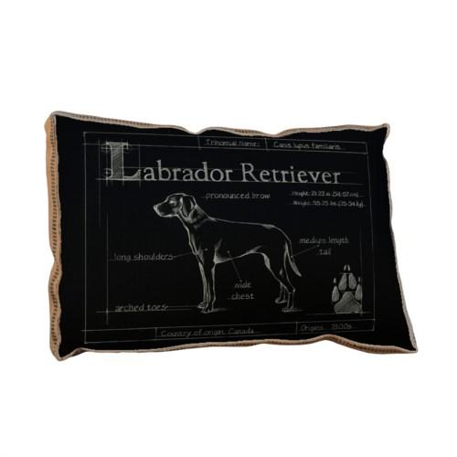Blueprint Labrador black pillow-Animals and Nature