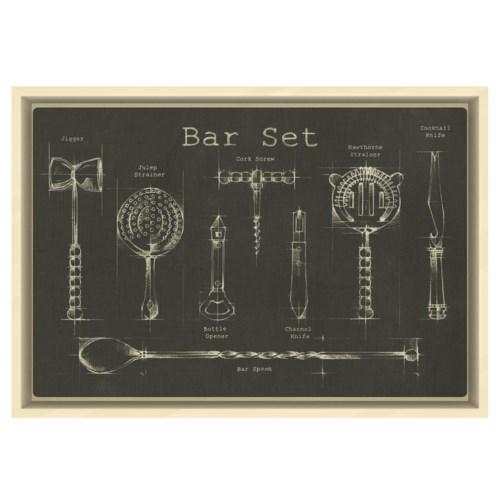 Bar Set chalk finish