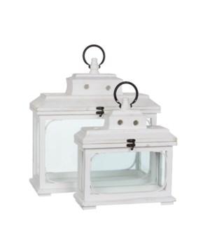 Lantern white set of 2 - l41,5xw17,5xh44cm
