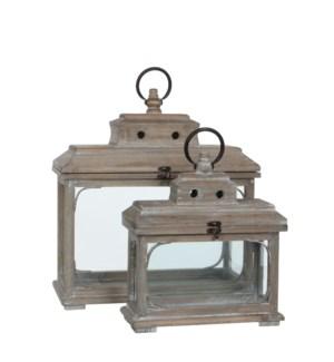 Lantern brown set of 2 - l41,5xw17,5xh44cm