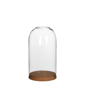 Cover transparent with coaster - h23xd13cm