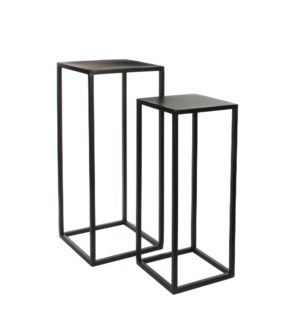 Goa table black set of 2 - l30xw30xh70cm