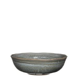 June bowl round grey - h8,5xd26,5cm