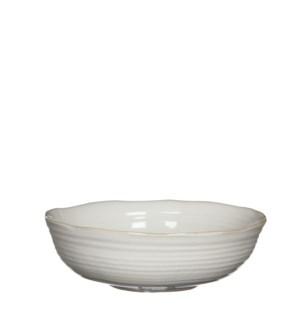 June bowl round off white - h8,5xd26,5cm