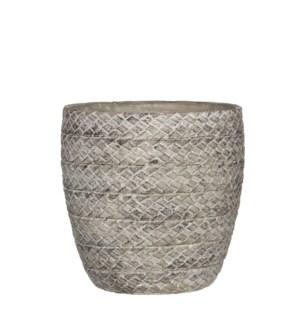 Alma pot round l. grey - h21xd21,5cm