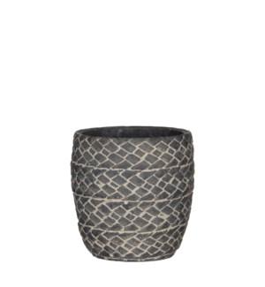 Alma pot round d. grey - h13xd13cm