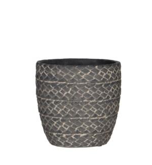 Alma pot round d. grey - h15xd15cm