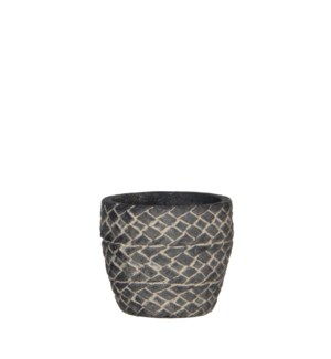 Alma pot round d. grey - h9,5xd10,5cm