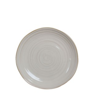 June plate round off white - h3xd25cm