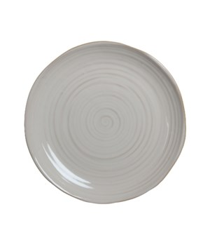 June plate round off white - h3xd31,5cm