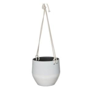 Kari pot hanging white - h15xd16cm