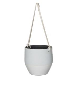 Kari pot hanging white - h18xd19cm