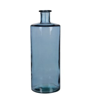 Guan bottle glass blue - h40xd15cm
