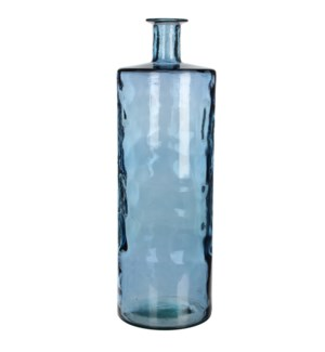 Guan bottle glass blue - h75xd25cm